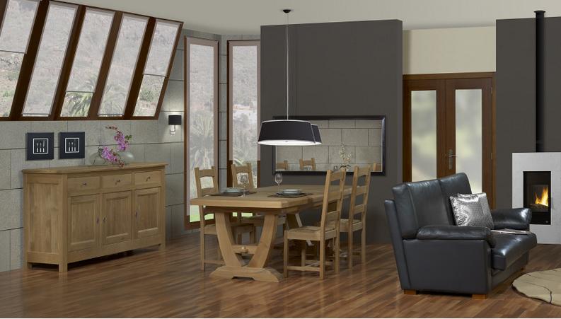 Structure 100% bois massif. Panneaux plaqués bois véritable. Essence de bois en fonction du coloris final voulu. Grand choix de meuble, de taille et de couleur.