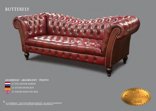 Variante du Véritable Chesterfield. Fabriqué à la main ,estampillé, certifié par une Association Anglaise de Chesterfield. Livré avec certificat de bonne fabrication.