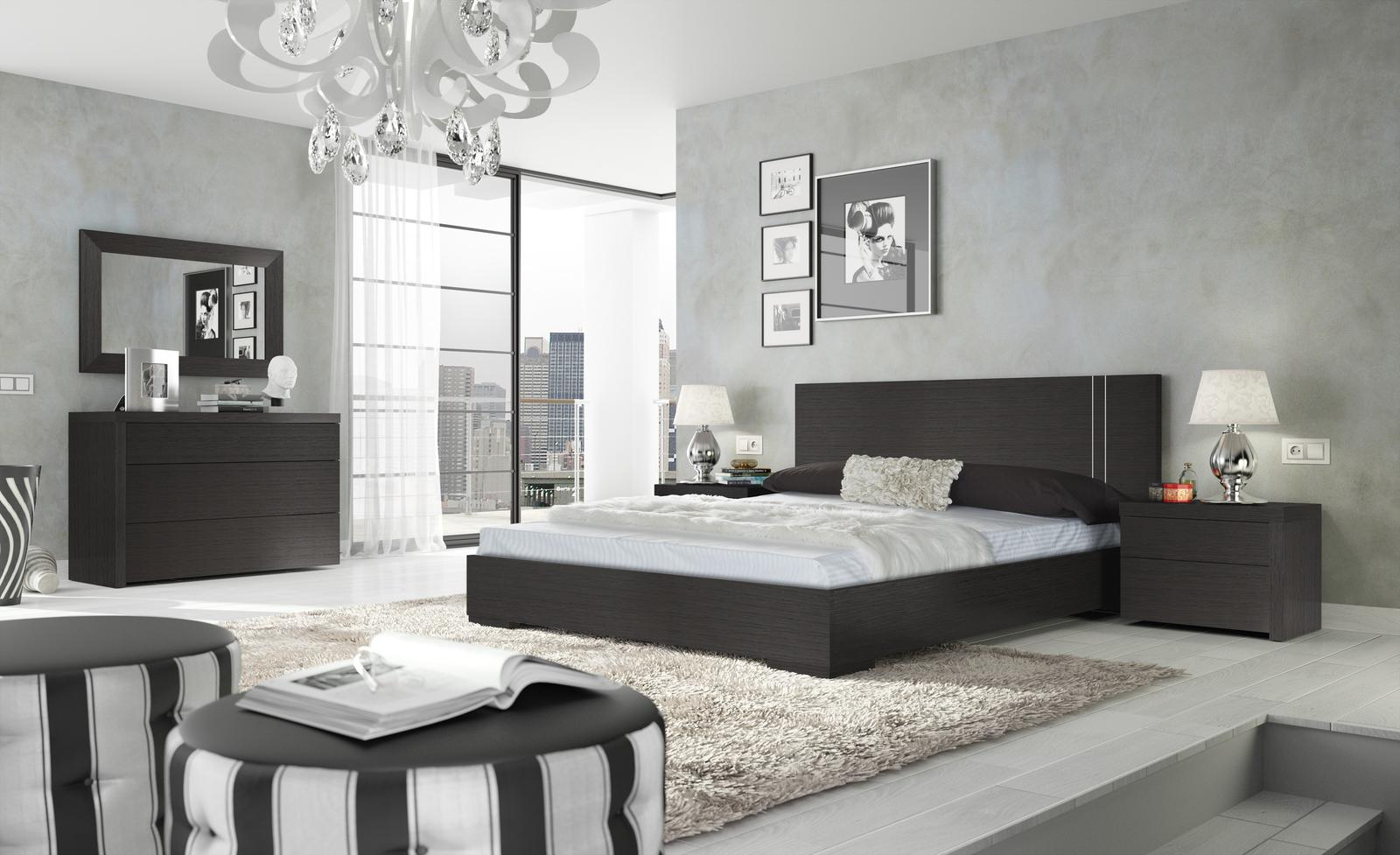 chambres contemporaines lits chevets moblinea. Black Bedroom Furniture Sets. Home Design Ideas