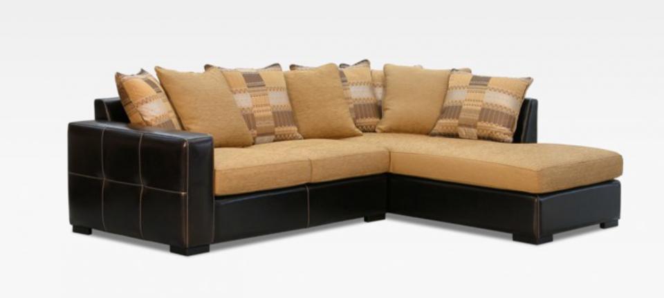 Canapé TOKYO d'angle dit Ethnique assise mousse polyuréthane 3okg/m3 dossier coussins amovibles. Revêtement de structure cuir véritable. Choix de coloris de revêtement et de pieds...