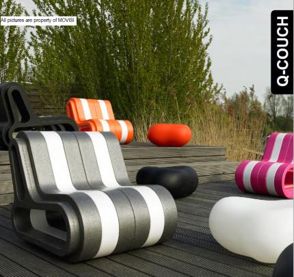 Qcouch- le canapé qui s'emboîte sans vis ni clou, qui s'adapte à votre envie, par sa dimension, ses couleurs. Elements 100% recyclable sans aucune toxicité.