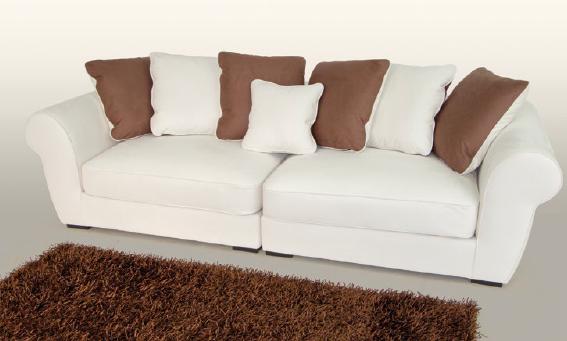 Canapé Orly. Un canapé coocooning pour se poser tranquillement . Ce canapé avec coussins amovibles permet de moduler la position de chaque utilisateur.