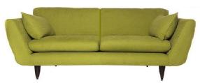 Canapé design RETRO avec 2 coussin d'assise. Un choix de 30 coloris.