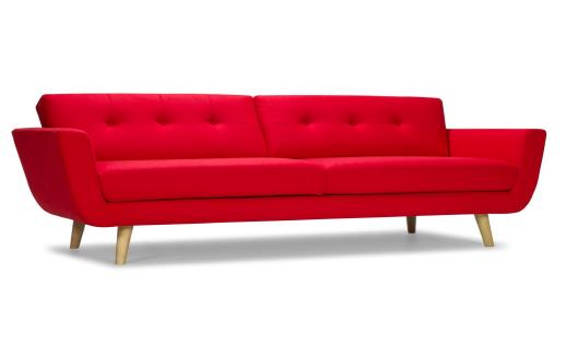 Le canapé design retro avec l'extravagance de la couleur vive. Vos choix sont les bons.