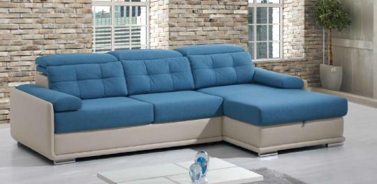 Canapé Chaise Longue DAYTONA. Option coffre. Différents coloris et revêtement. Plus de 1000 combinaison possibles.