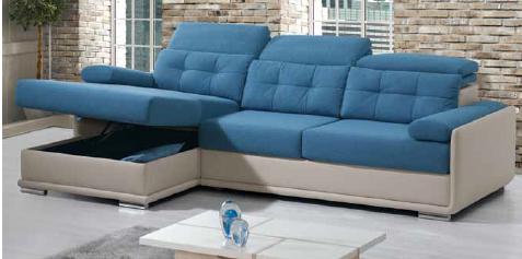 Canapé d'angle DAYTONA. Option coffre. Différents coloris et revêtement. Plus de 1000 combinaison possibles.