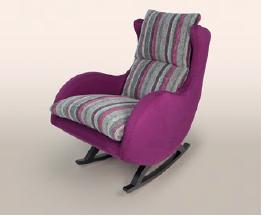 FLUANCE. Fauteuil à bascule avec revêtement  divers dont moderne afin de donner une nouvelle vision de ce fauteuil ancien...