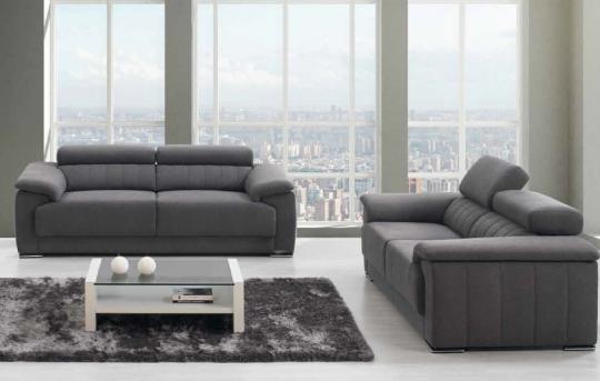 Canapé LYOR. Assise épaisse pour un grand confort. Têtière inclinable. Grand choix de couleurs