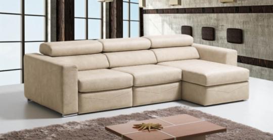 Canapé Chaise Longue FLORA. Assise coulissante pour s adapter à la taille de l utilisateur.