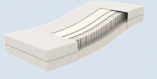 Matelas CLOUD:  - Épaisseur Totale: 25 cm. - Âme du matelas:    9cm de Mousse Polyuréthane 35kg/m3 Haute Densité Haute résilience . + 11 cm de Mousse à mémoire de forme 50kg/m3  + 2 couches de fibre isolante de 1cm - Revêtement: Tissus stretch avec fibre de Bambou. Parfaitement adapté aux sommiers Tête et pieds relevable (TPR)